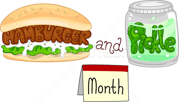 Hamburger and Pickle Month Stock photo © lenm