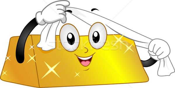 Aranyrúd kabala illusztráció arany vektor izolált Stock fotó © lenm