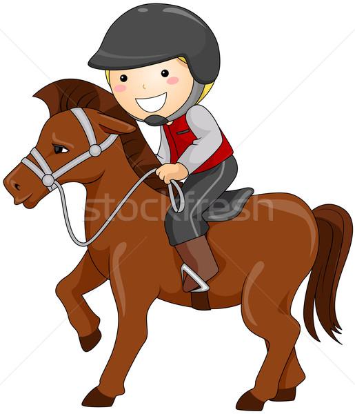 верховая езда мальчика ребенка лошади клуба Сток-фото © lenm