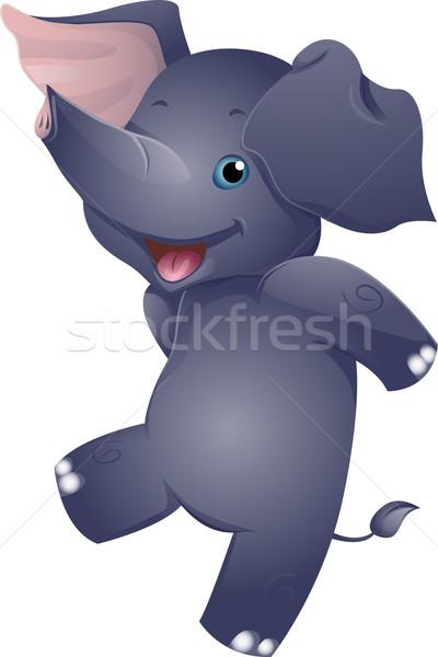 Happy Elephant Stock photo © lenm