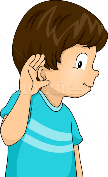 Listening Boy Stock photo © lenm