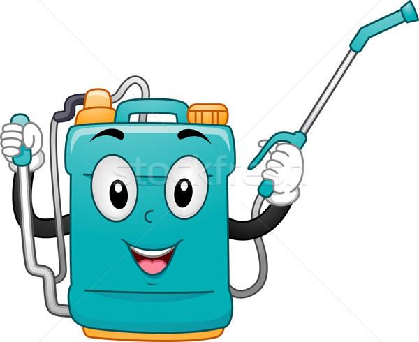 Sprayer Mascot Stock photo © lenm