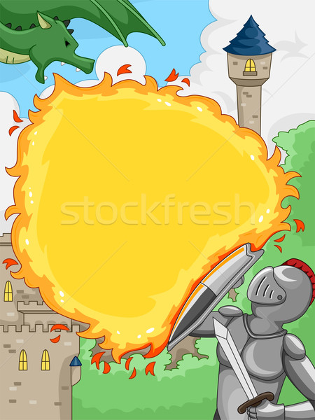 Knight Versus Dragon Stock photo © lenm