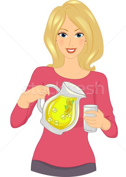 Limonata kız örnek kadın sanat Stok fotoğraf © lenm