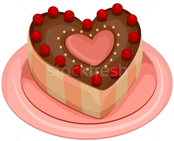 Heart Cake In The Middle
