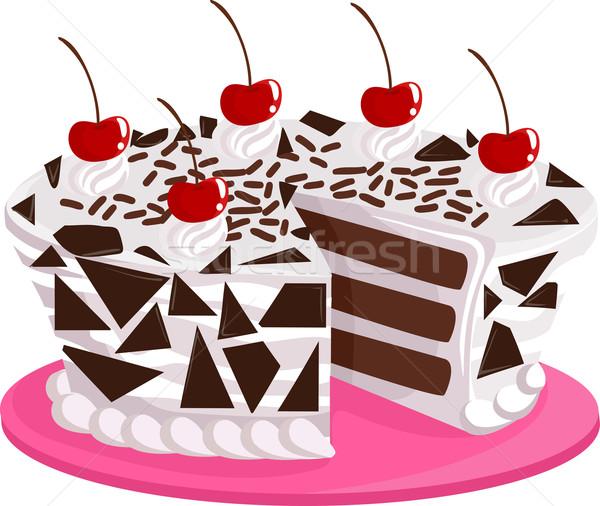 Black Forest Cake Stock photo © lenm