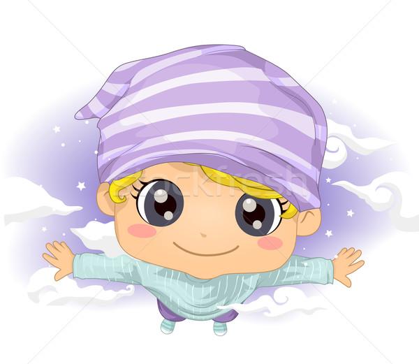 Kid мальчика лет мечта иллюстрация Cute Сток-фото © lenm