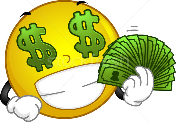 Money-loving Smiley Stock photo © lenm