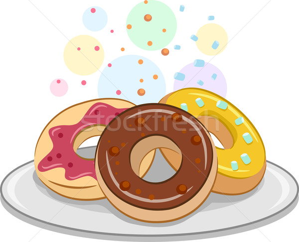 Illustrazione appetitoso dessert dolci vettore isolato Foto d'archivio © lenm