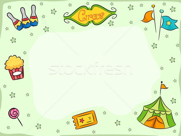 Цирк фон иллюстрация цирка дизайна фон конфеты Сток-фото © lenm