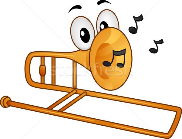 Maskotka ilustracja muzyki zauważa muzyki wektora clipart Zdjęcia stock © lenm