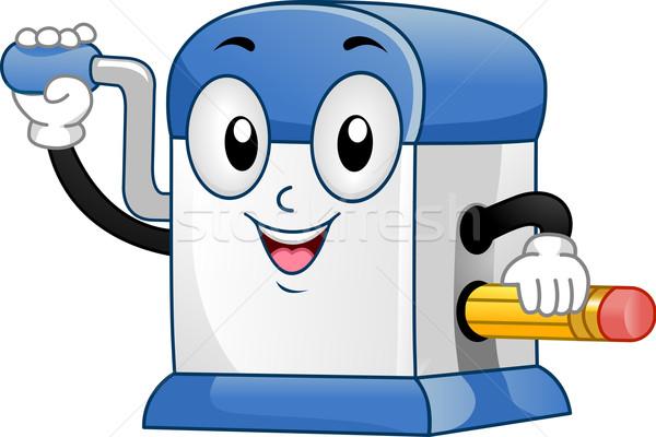 Temperówka maskotka ilustracja pulpit farbują wektora Zdjęcia stock © lenm