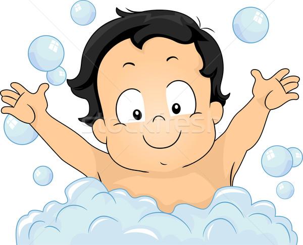 赤ちゃん 泡風呂 実例 楽しく ストックフォト © lenm