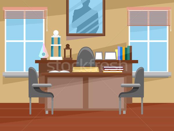 Principal's Office Interior Stock photo © lenm