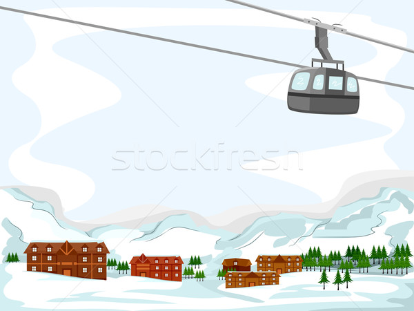 Ski Lodge Background Stock photo © lenm