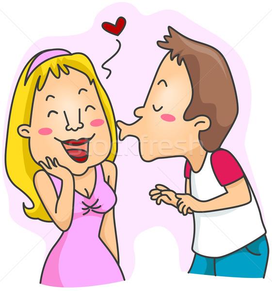 Man Kissing Girl Stock photo © lenm