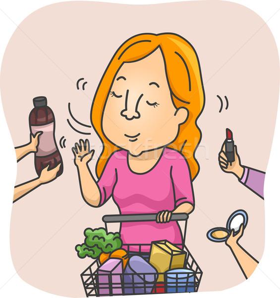Girl Refusing Offers Stock photo © lenm