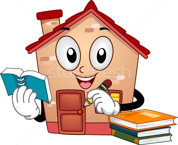 Mascot Home Schooling Stock photo © lenm