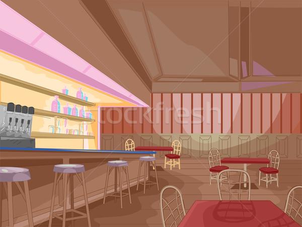 Pub interior ilustração espera clientes fundo Foto stock © lenm