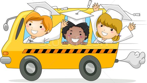 Kids School Bus Stock photo © lenm