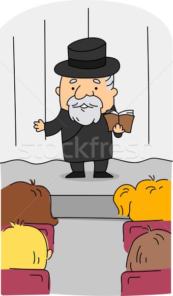 Rabbi Stock photo © lenm