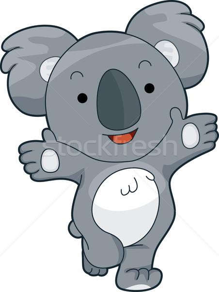 Przyjazny koala ilustracja oferowanie przytulić szczęśliwy Zdjęcia stock © lenm