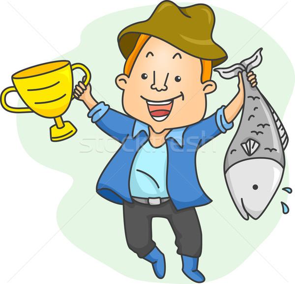 Fishing Contest Winner Stock photo © lenm