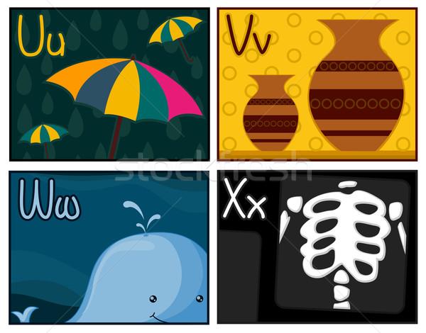 Flash projektu karty parasol Zdjęcia stock © lenm