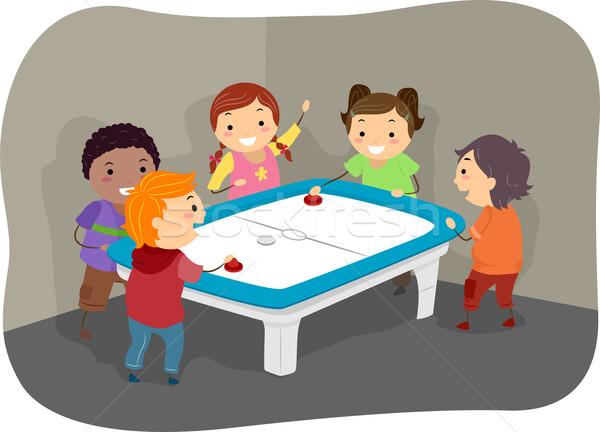 Aire hockey ninos ilustración ninos jugando nino Foto stock © lenm