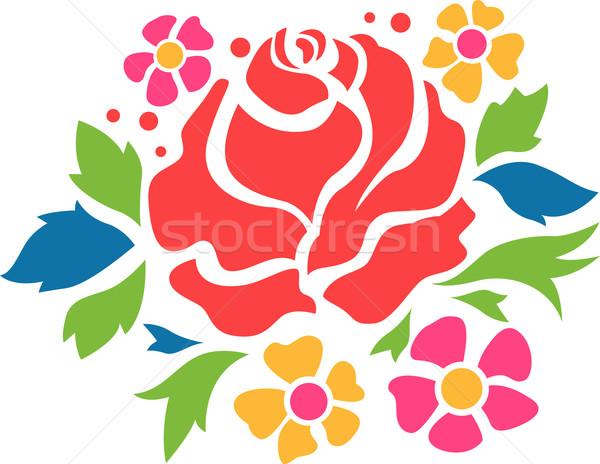 花 ステンシル 実例 準備 バラ デザイン ストックフォト © lenm