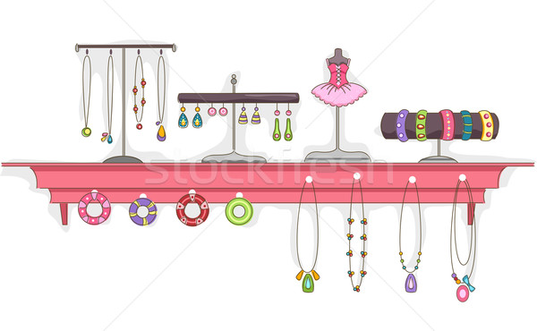 Jewelry Shelf Display Stock photo © lenm