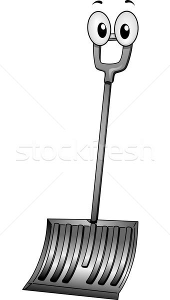 Snow Shovel Mascot Stock photo © lenm