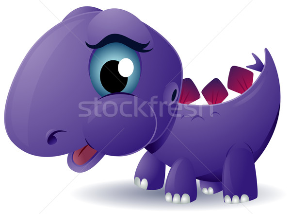 Baby Stegosaurus Stock photo © lenm