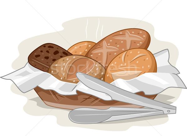 Bread Basket Stock photo © lenm