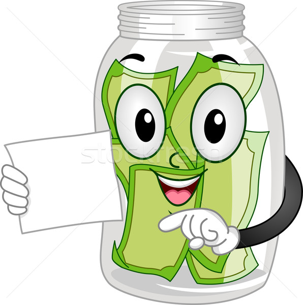 Mascot Tip Jar Stock photo © lenm