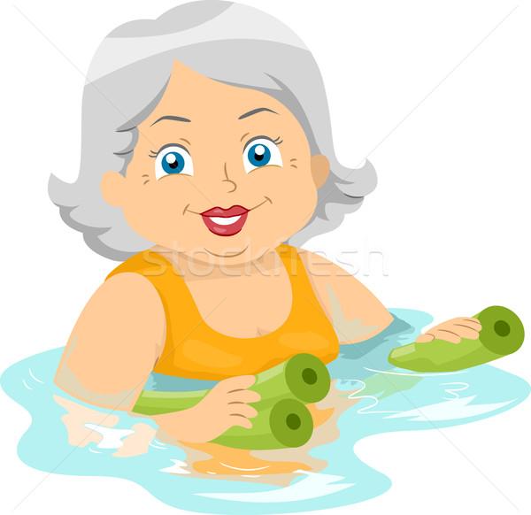 Supérieurs femme illustration fitness natation Photo stock © lenm