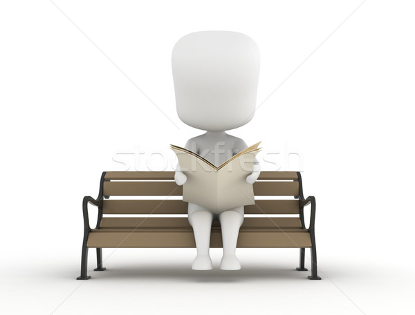 Man Reading a Newspaper Stock photo © lenm