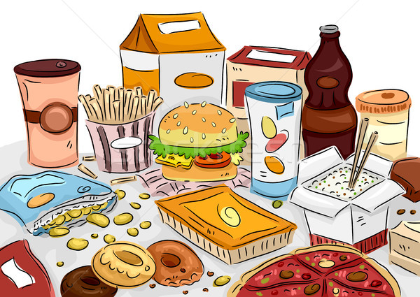 Stock photo: Junk Food Bunch