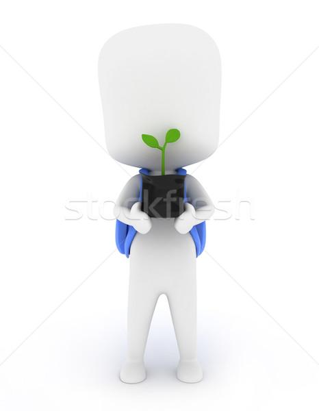 Tart palánta 3d illusztráció gyerek műanyag táska Stock fotó © lenm