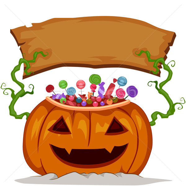 Pumpkin Board Stock photo © lenm