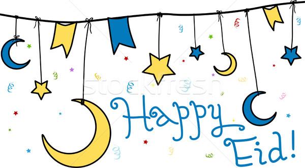 Happy Eid Stock photo © lenm