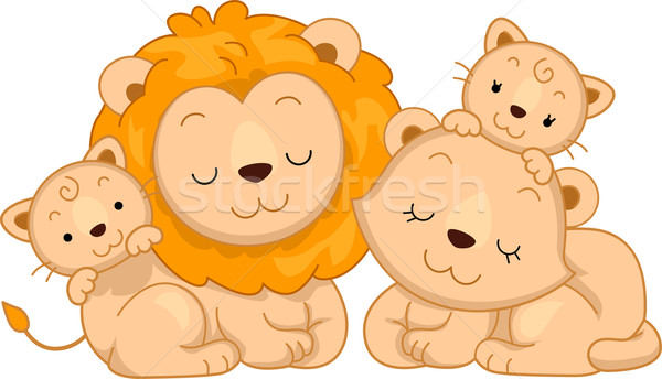 Lion Family Stock photo © lenm
