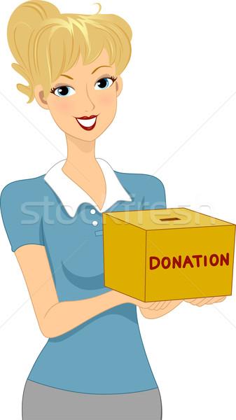 пожертвование девушки иллюстрация окна женщину Сток-фото © lenm