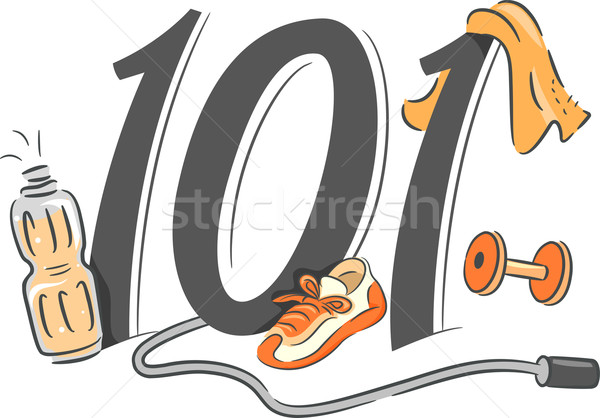 Exercising 101 Stock photo © lenm