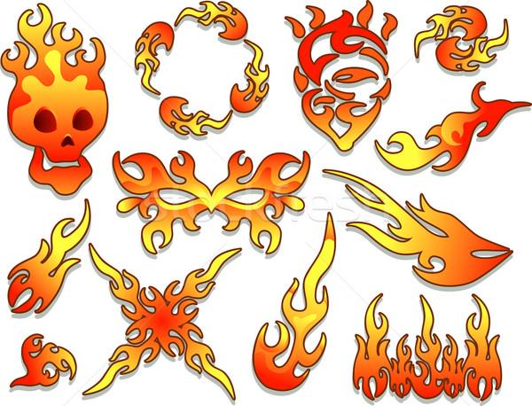 Flames Design Stock photo © lenm
