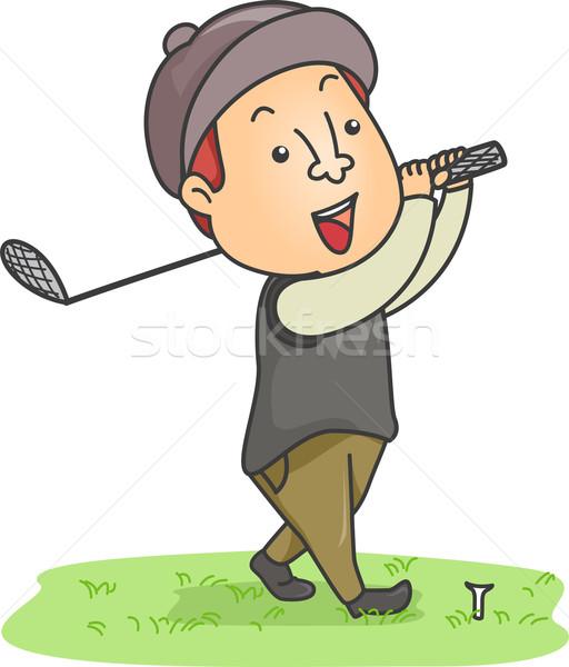 Male Golfer Stock photo © lenm