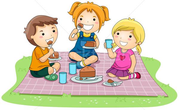 Eating Cake Stock photo © lenm