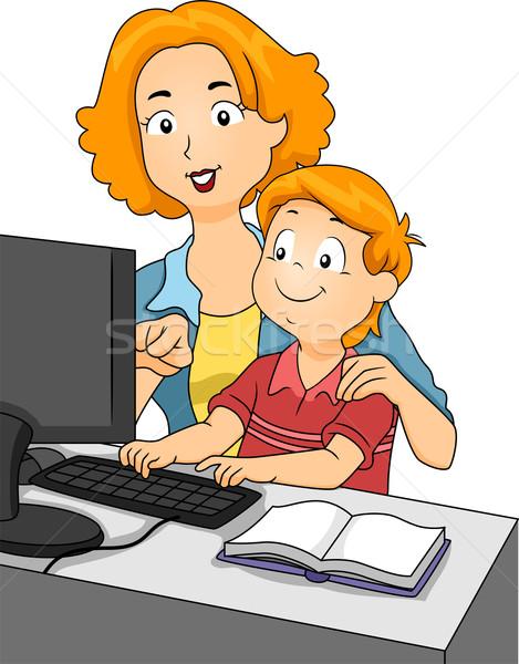 Teaching Son Stock photo © lenm