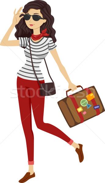 Traveler Girl Stock photo © lenm