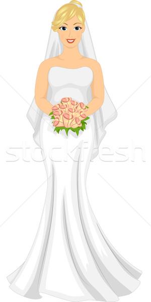 Slightly Pudgy Bride Stock photo © lenm